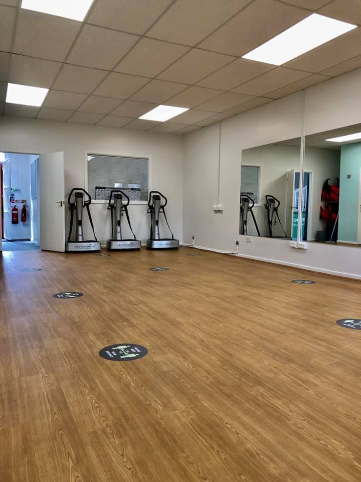 fitness studio skipton wooden floor