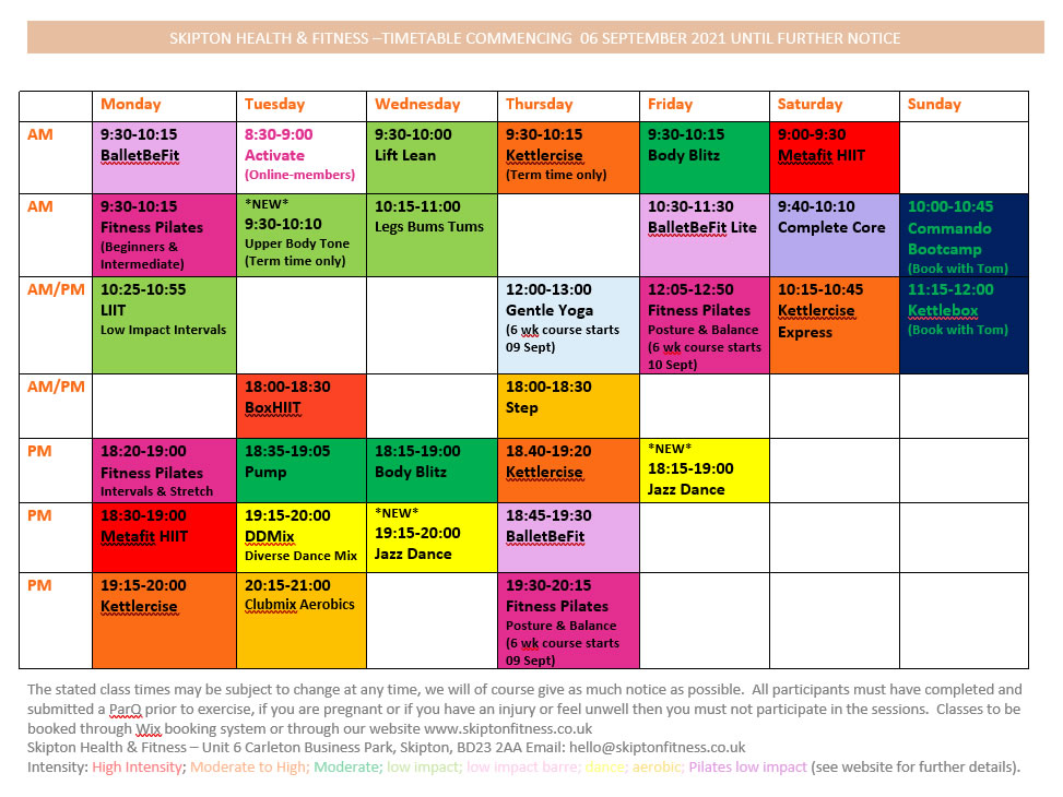 time table september